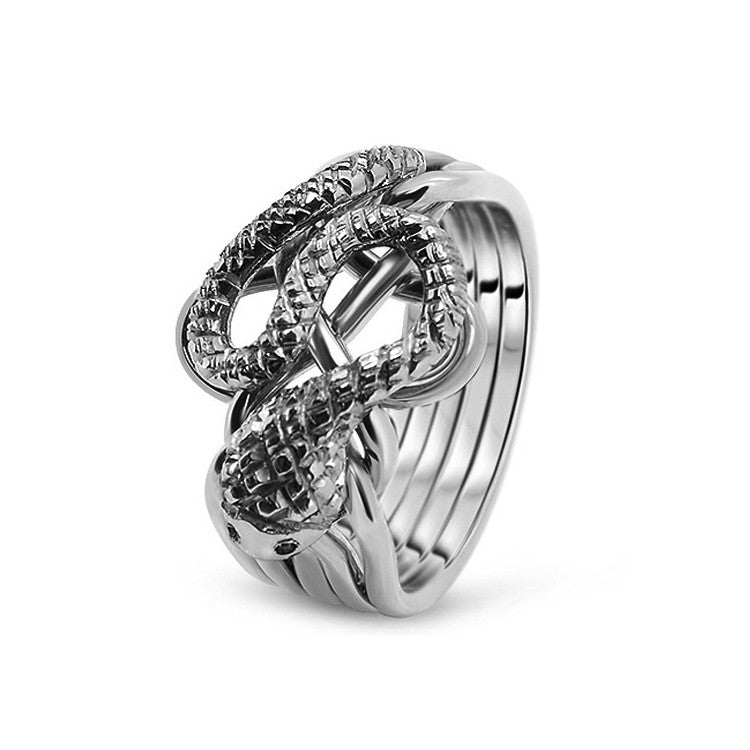 Platinum Puzzle Ring 5RS-M