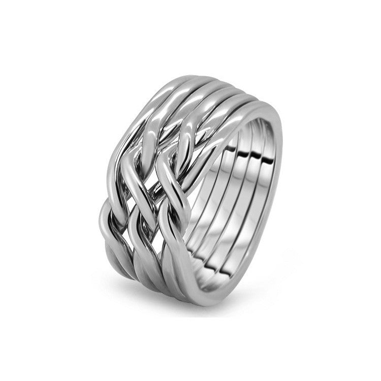Platinum Puzzle Ring 6CN-L