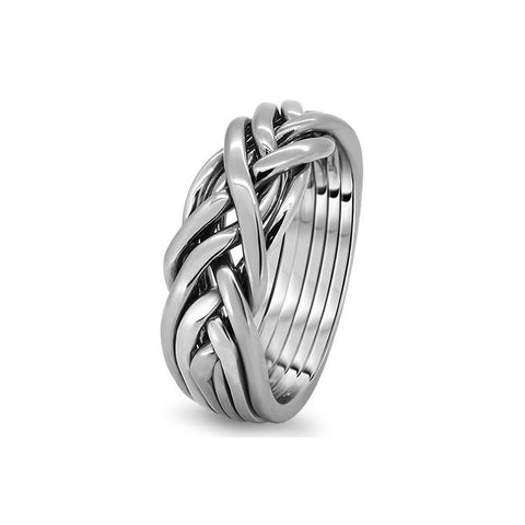 Platinum Puzzle Ring 6CW-L