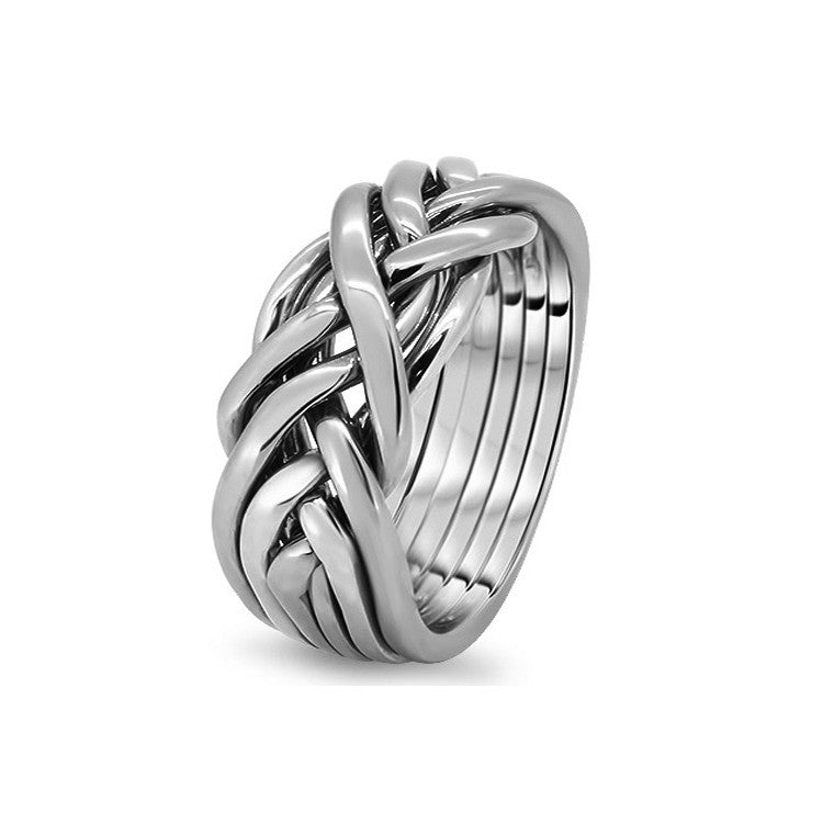 Platinum Puzzle Ring 6CW-M