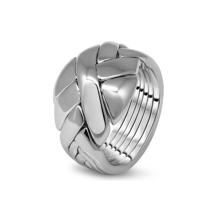 Platinum Puzzle Ring 6DO-U