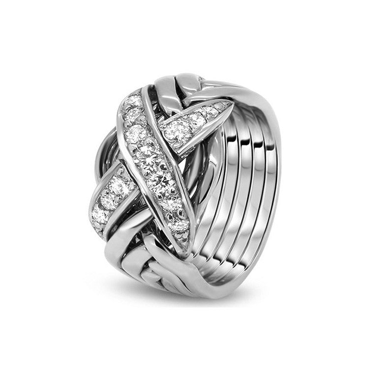 Platinum Puzzle Ring 6RX-MD