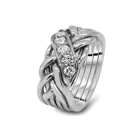 Platinum Puzzle Ring 6WRD-MD