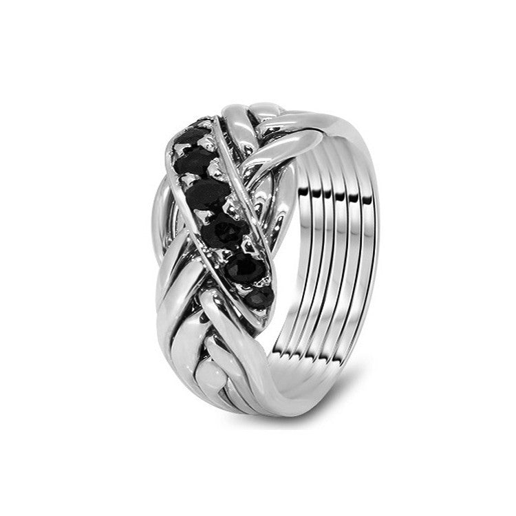 Platinum Puzzle Ring 6WRD-MS