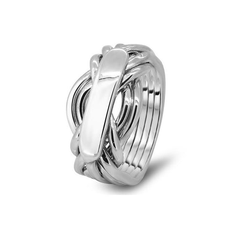 Platinum Puzzle Ring 7AH-L