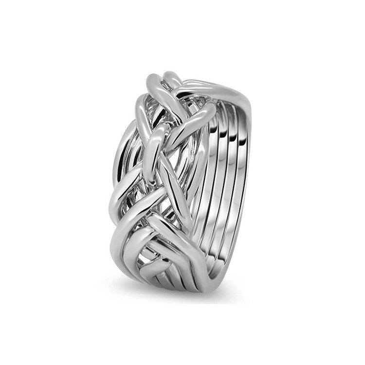 Platinum Puzzle Ring 7D-L