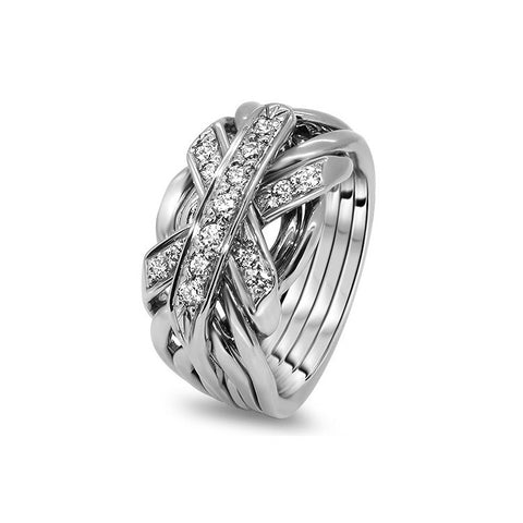 Platinum Puzzle Ring 7JG-MD