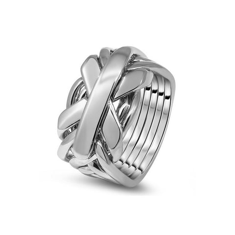 Platinum Puzzle Ring 7JG-M