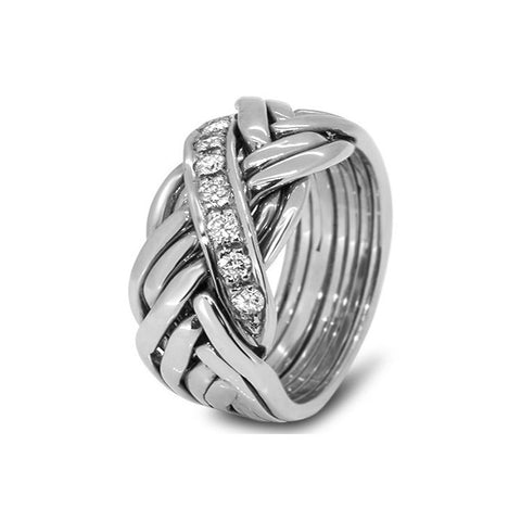 Platinum Puzzle Ring 7WRD-MD