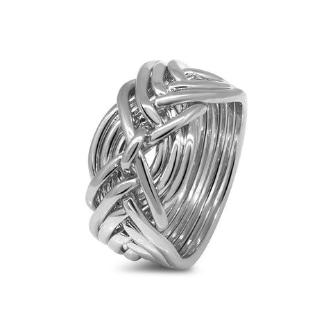 Platinum Puzzle Ring 9D-L
