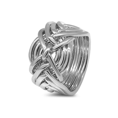 Platinum Puzzle Ring 9D-M