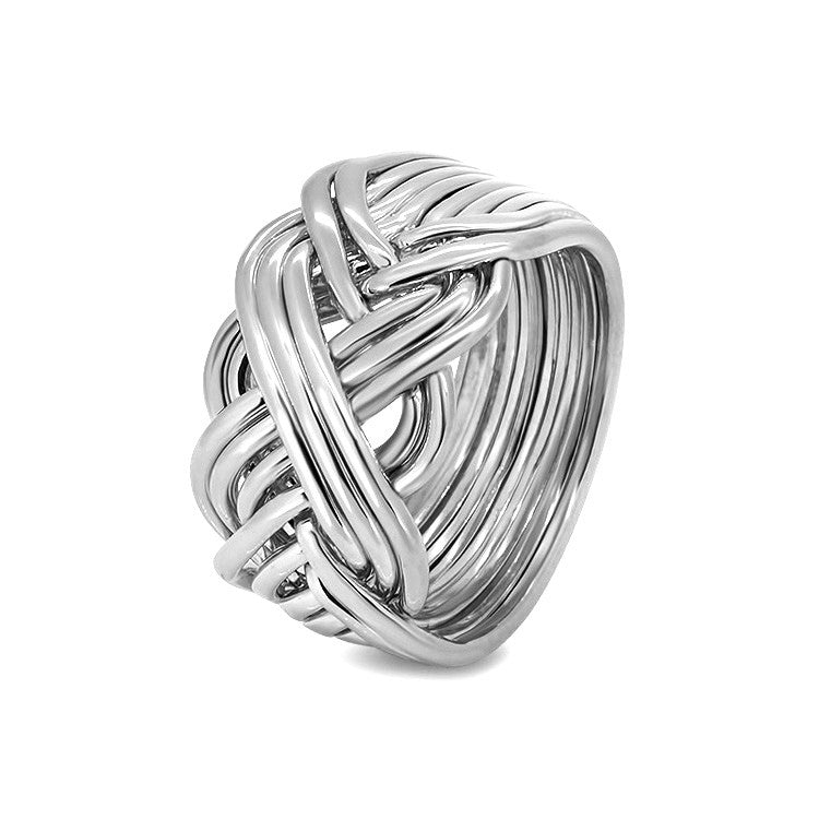 Silver Puzzle Ring 10B-M