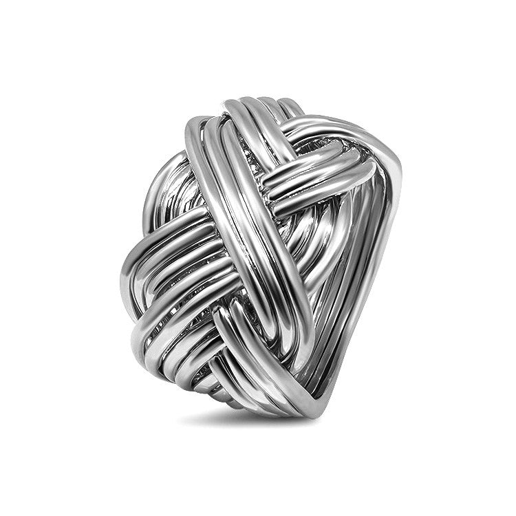 Silver Puzzle Ring 14B-M