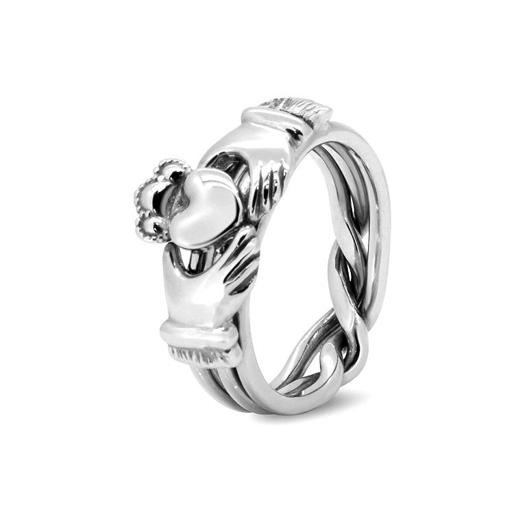 at silver pagespeed rss item xcrossed fantasy ic claddagh s gryphon pagan rings crossed moon ring celtic puzzle hearts