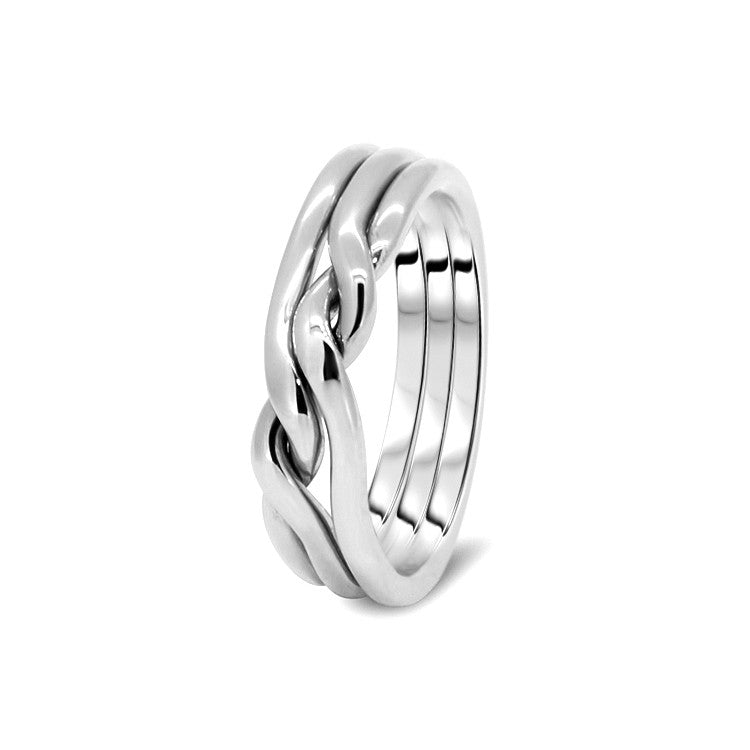Silver Puzzle Ring 3CN-L