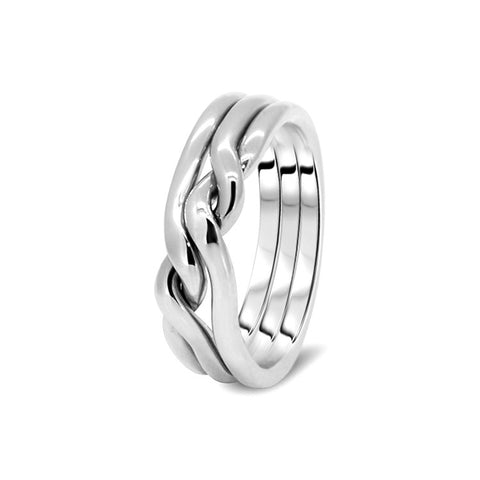 Silver Puzzle Ring 3CN-M