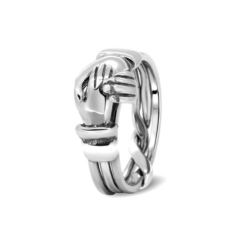 Silver Puzzle Ring 3CR-L