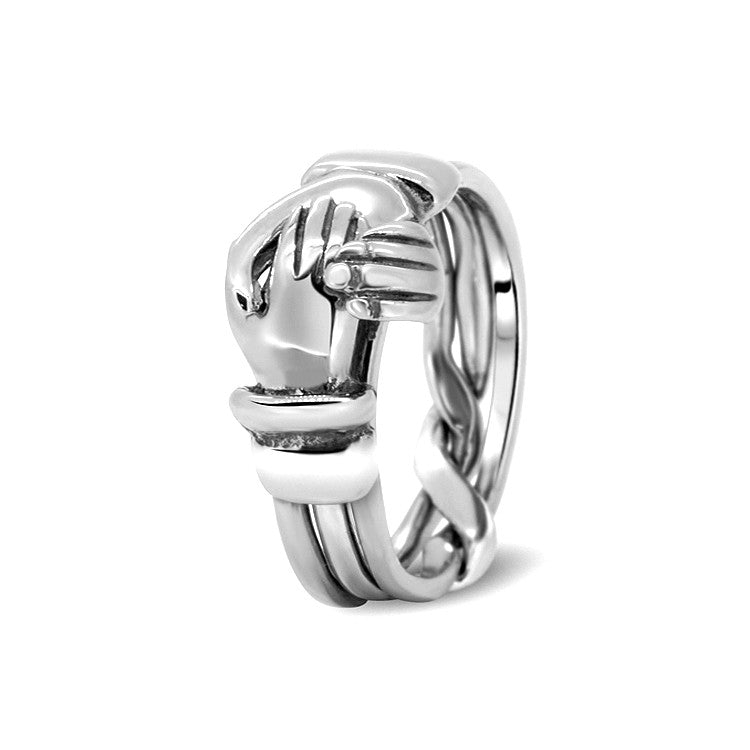 Silver Puzzle Ring 3CR-M
