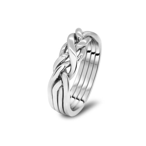 Silver Puzzle Ring 4CW-L