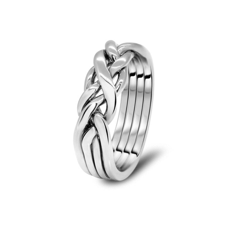 Silver Puzzle Ring 4CW-M