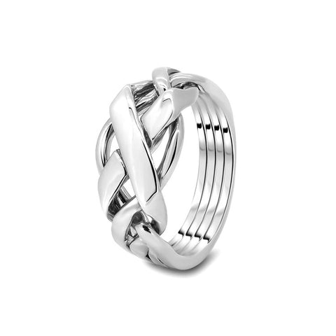 Silver Puzzle Ring 4FX-L