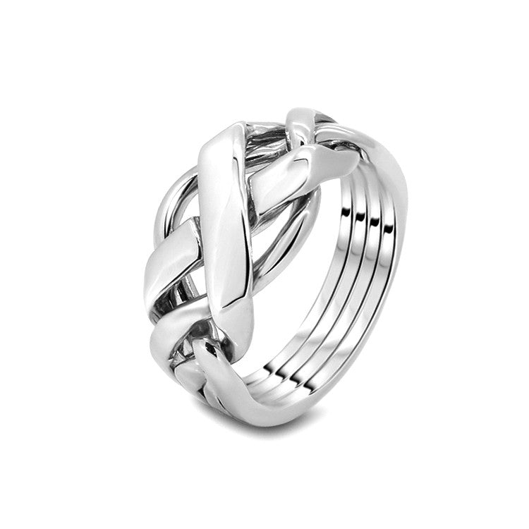 Silver Puzzle Ring 4FX-M