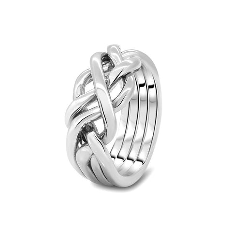 Silver Puzzle Ring 4HB-M