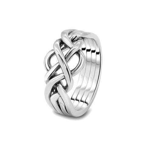 Silver Puzzle Ring 4O-M