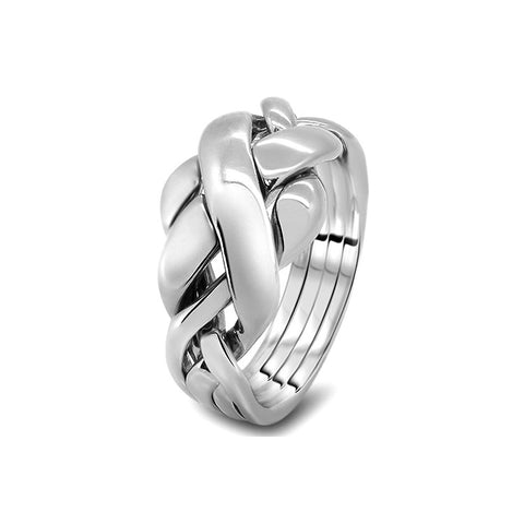 Silver Puzzle Ring 4RC-L
