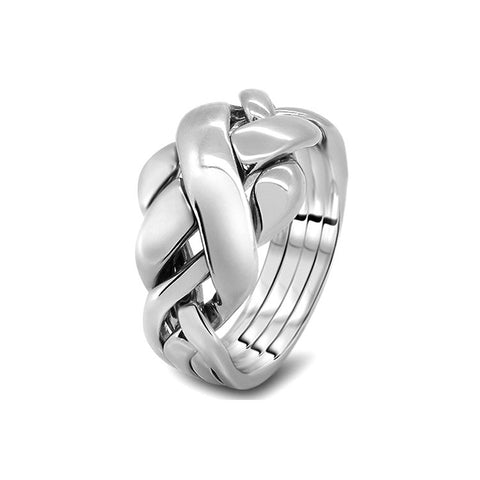 Silver Puzzle Ring 4RC-M