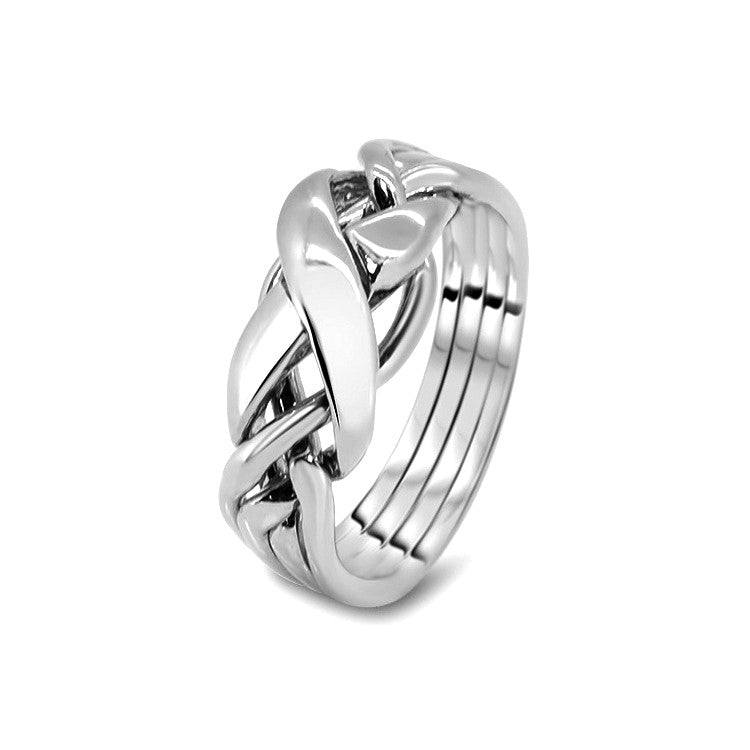 Silver Puzzle Ring 4RX-L
