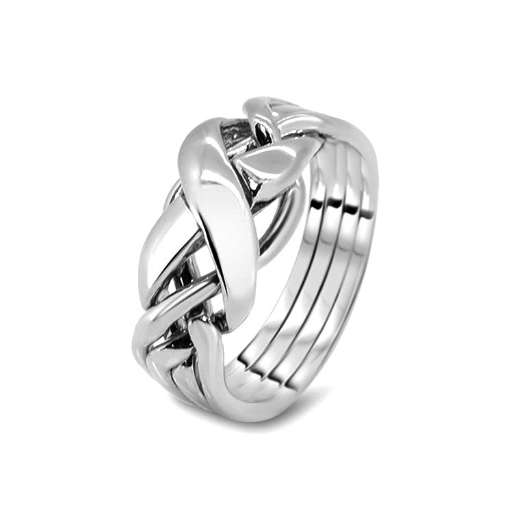 Silver Puzzle Ring 4RX-M
