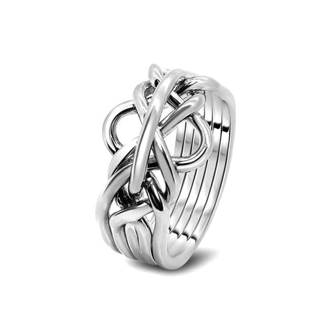Silver Puzzle Ring 5-L