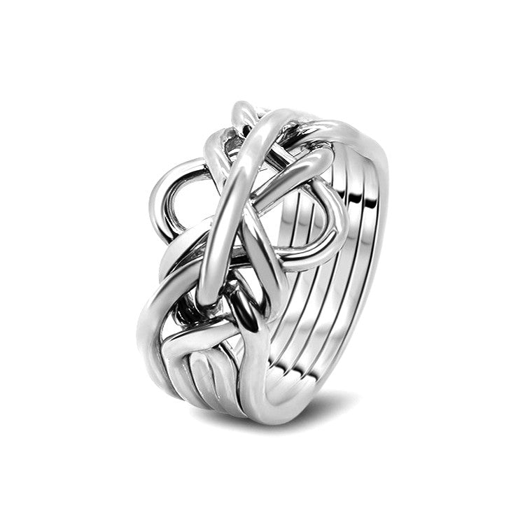 Silver Puzzle Ring 5-M