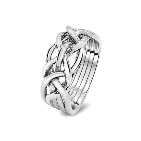 Silver Puzzle Ring 5D-L