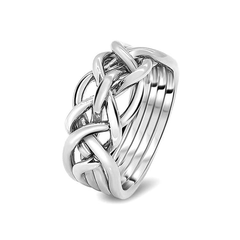 Silver Puzzle Ring 5D-M