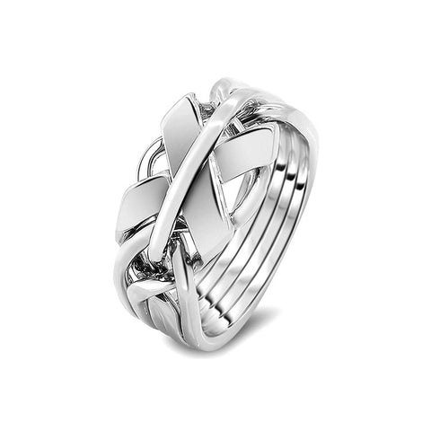 Silver Puzzle Ring 5FX-M