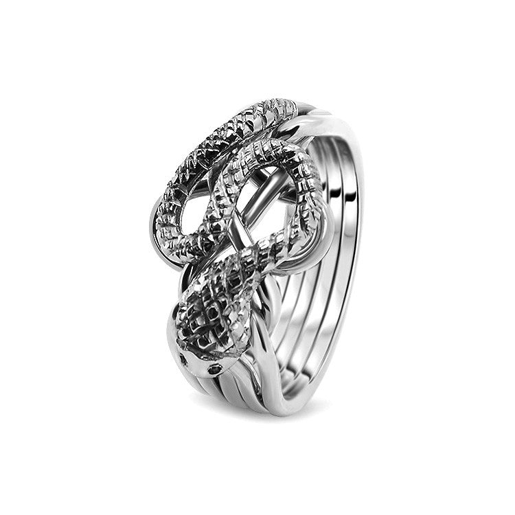 Silver Puzzle Ring 5RS-L