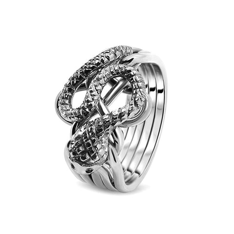 Silver Puzzle Ring 5RS-M