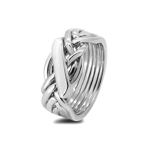 Silver Puzzle Ring 61H-L