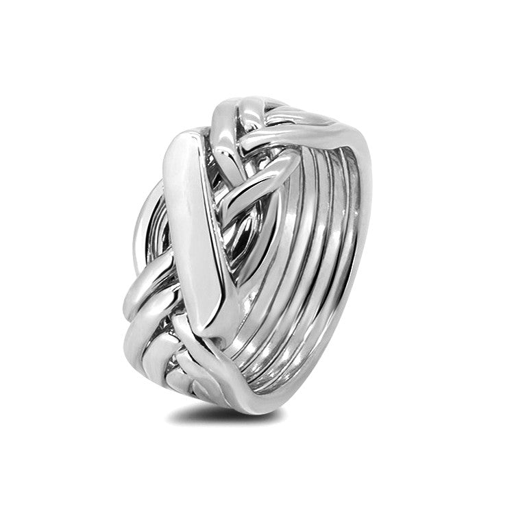 Silver Puzzle Ring 61H-M