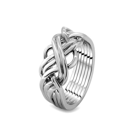 Silver Puzzle Ring 6AWB-L