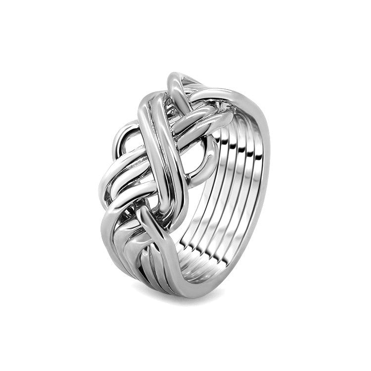 Silver Puzzle Ring 6AWB-M