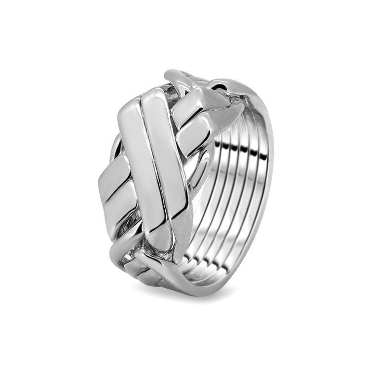 Silver Puzzle Ring 6BFX-M