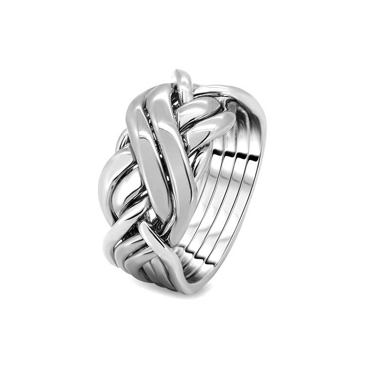 Silver Puzzle Ring 6BRX-L