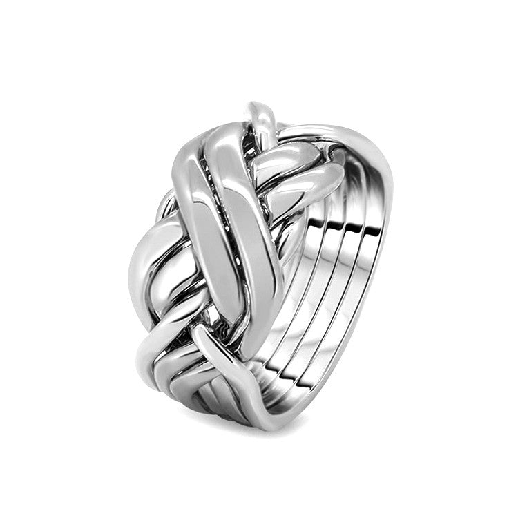 Silver Puzzle Ring 6BRX-M