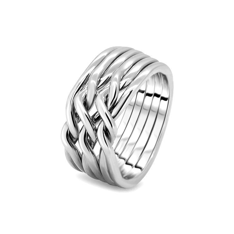 Silver Puzzle Ring 6CN-L