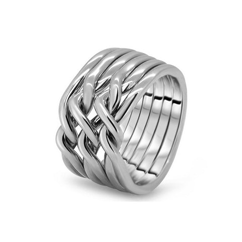 Silver Puzzle Ring 6CN-M