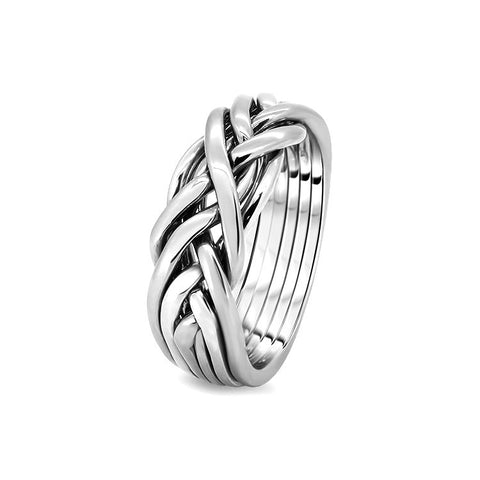 Silver Puzzle Ring 6CW-L