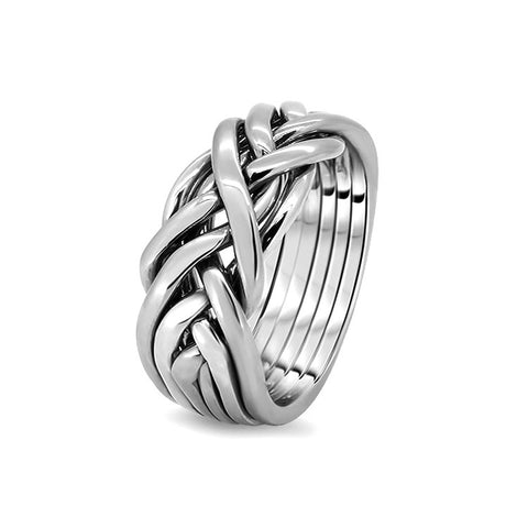 Silver Puzzle Ring 6CW-M